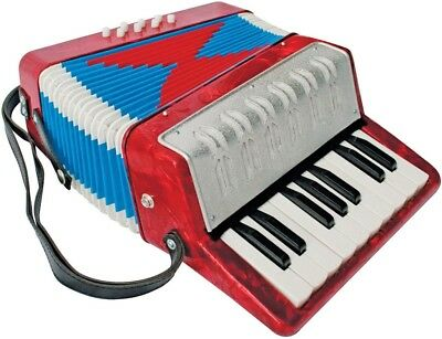 Junior Piano Accordion, Red Pearl *NEW* 17 treble keys and 8 bass buttons