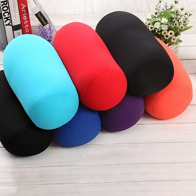 "13.8""x 6.7"" Seat Head Rest Neck Support Micro Mini Microbead Cushion Roll Pillow"
