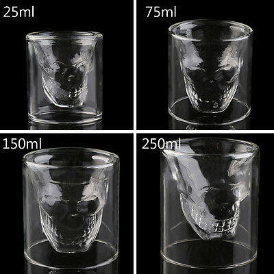 Cool Skull Head Shot Glass Creative Designer Party Wine Cup Drinkware hot PY
