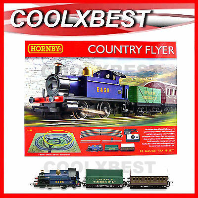 New Hornby Country Flyer Train Set Oo Gauge 0-4-0 Locomotive Oval Track R1188