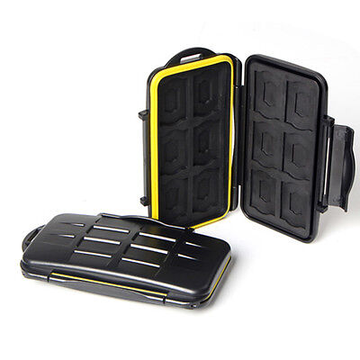 JJC MC-SD12 Water-Resistant  Memory Card Case for 12 SD cards Anti-shock