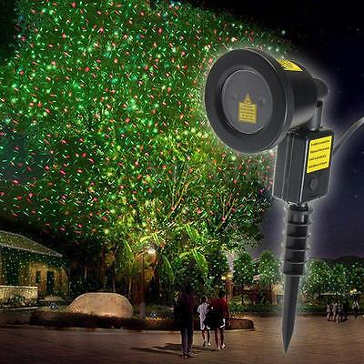 Auto LED Laser Stage Moving Lighting Landscape Lawn Projector Show Light Xmas