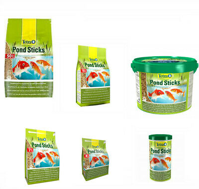 TETRA POND STICKS STAPLE FLOATING FOOD FOR ALL POND FISH  various sizes