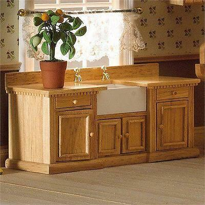 Smallbone sink unit with Belfast sink 1:12 Scale for Dolls House