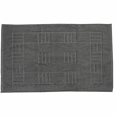 100% Egyptian Cotton Bath Mats - Grey Super Soft Washable Bathroom Toilet Mat