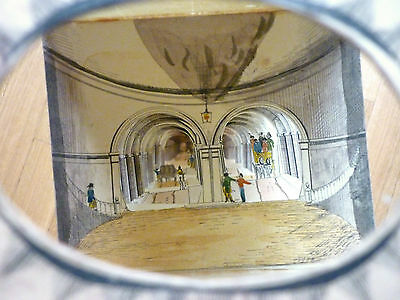 Lithografie Diorama Faltperskeptive Themse Tunnel Thames London England 1843