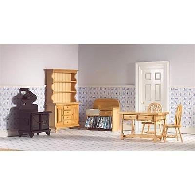 6 Piece Pine Kitchen Set 1:12 Scale for Dolls House Emporium
