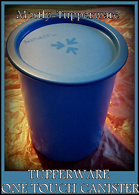 BNIP Tupperware One Touch Canister 1.25L (1) in Blue