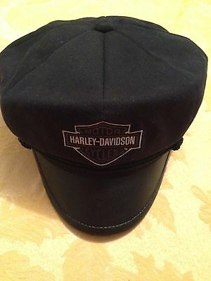 Harley - Davidson Captains Biker Hat With Leather Brim