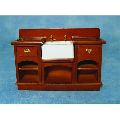 12th Scale Sink Unit with Shelves For Dolls House