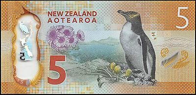 2015 NEW ZEALAND $5 DOLLARS BANKNOTE * UNC * P-NEW * Polymer *