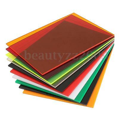 5mm (A4) 297x210mm Acrylic Perspex Sheet Cut to Size Panel Plastic Satin Gloss