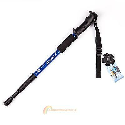 Hiking Walking Trekking Trail Poles Ultralight 4-section Adjustable Canes R1BO