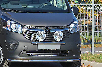 Bar Under Shield Power Leds Renault Trafic 2014+ Stainless Steel,guaranteed 6Ans