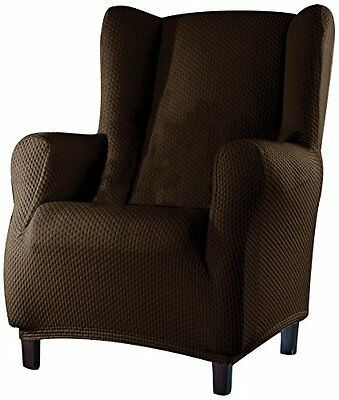 Eysa 1-Square Sucre Wing Chair, Brown