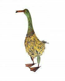 NEW Metal 'Yellow Bellied Goose' Garden Ornament Accessories Decor Gifts