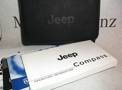 Jeep Compass MK 07-15 Owners Handbook Service Book Pack Operating Info