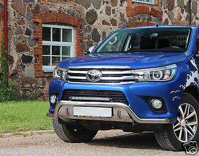 Bar Under Shield Power+Plate Protection For Toyota Hilux 16- Stainless Steel