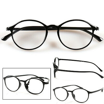 Retro Fashion Reading Glasses Drop Eyeglasses Round Frame +1.0 to +4.0 #