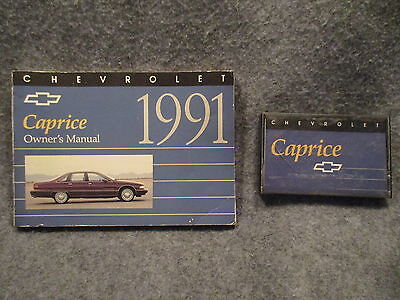 1991 Chevrolet Chevy Caprice Owners Users Manual Guide Book & Cassette Tape 8874