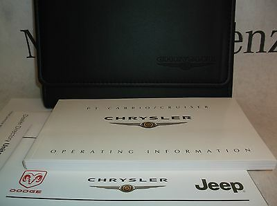 Chrysler PT Cruiser/ Cabrio Owners Handbook Service Book Pack Operating Info