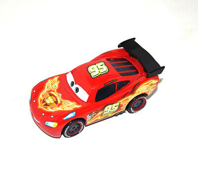 Disney Pixar Cars Diecast Neon Red Lightning Mcqueen with Black Rear Toy