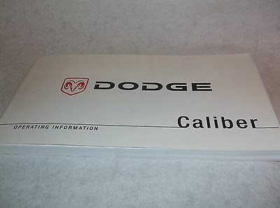 NEW Genuine Dodge Caliber Owners Handbook Service Book