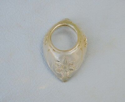 Vintage Indo Persian Mughal Islamic Rock Crystal Archer Ring NO Arrow Bow