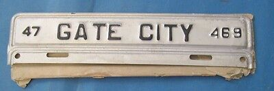 1947 Gate City license plate from Virginia never used