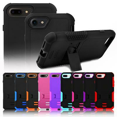 Rugged Hybrid Box Shockproof Case Cover Kick-Stand For Apple iPhone 7 / 7 Plus