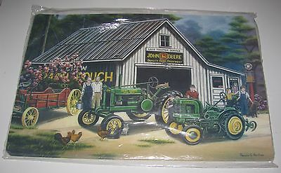 17X11 John Deer Tractor Set of 4 Advertising Table Place Mats New Sealed!