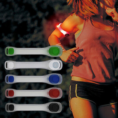 Reflective Safety Belt Arm Strap Night Cycling Running LED Armband Light QV