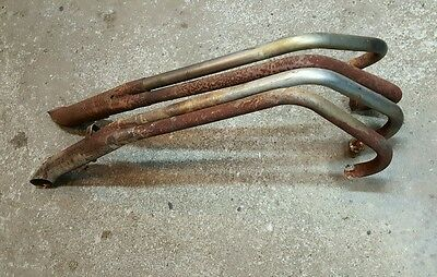 1977 Honda CB550 Complete 4 into 2 Exhaust Pipes Muffler headers set