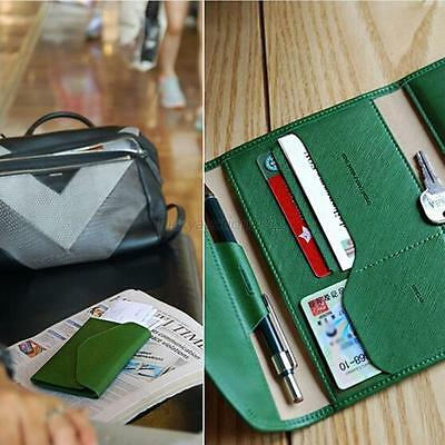 Leather Slim Thin Credit Card Holder Mini Wallet ID Case Purse Bag Pouch Colors