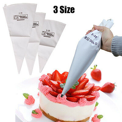 New Reusable Cotton Icing Piping Pastry Bag Cake Cream Decorating Bags S M L