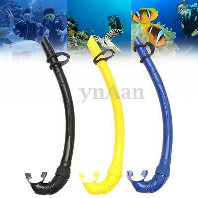 Flexable Silicone Underwater Snorkel Diving Snorkeling Swimming Scuba Air Tube