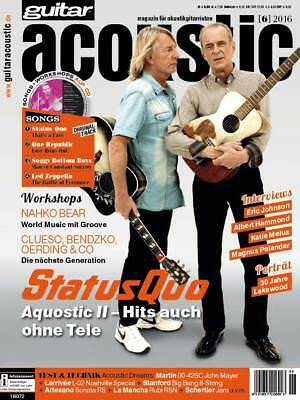 guitar acoustic 06 2016 mit Songs + Workshops auf CD Status Quo Playalongs