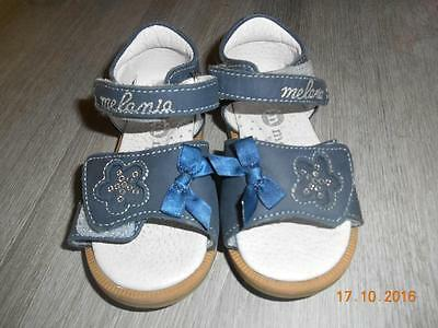 Chaussures sandales à scratch bleu pointure taille maat grootte 22 MELANIA