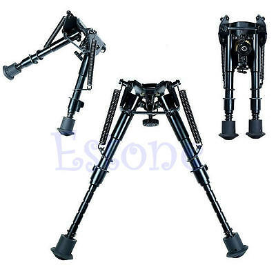 "Adjustable 6"" to 9"" Legs Rifle Sniper Hunting Bipod Sling Swivel Holder Mount"