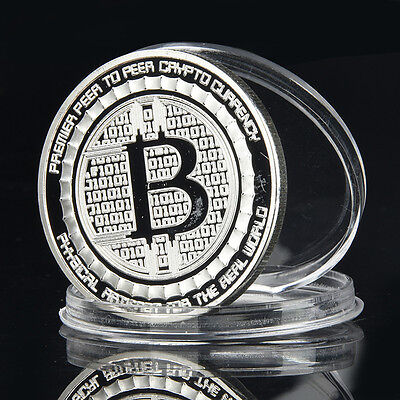 Premier Peer to Peer Crypto Currency Metal Commemorative Coin Craft Bitcorn 40mm