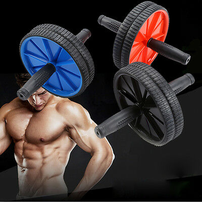 AB Abdominal Waist Workout Exercise Gym Fitness Wheel Roller Wheels & Knee Pad A