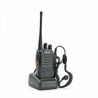 BAOFENG BF-888S UHF WALKIE TALKIES 400-470MHz RICETRASMITTENTE VHS  FM CUFFIE
