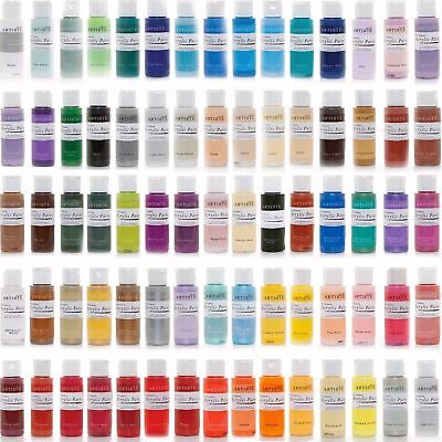 Docrafts Artiste Arcylic Paint All Purpose - 59ml / 2oz - Choose from 60 Colours
