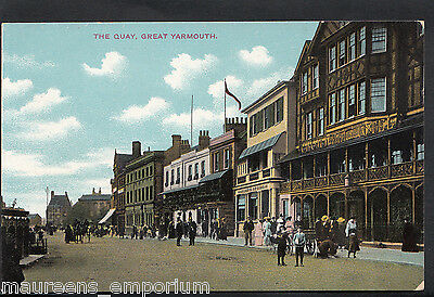 Norfolk Postcard - The Quay, Great Yarmouth  RT1538