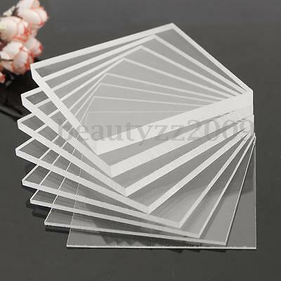 Variety of multi-size Acrylic Perspex Sheet Cut to Size Panel Plastic Satin Glos
