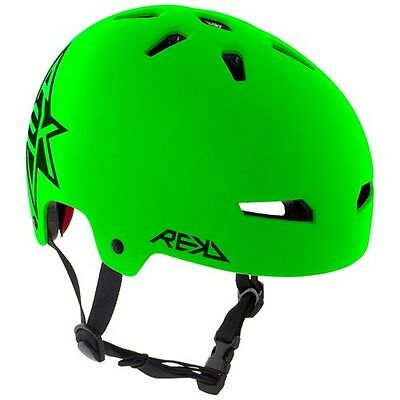 Scooter/Roller Derby/BMX/Skate Helmet. REKD Elite Icon Green/Black Helmet.