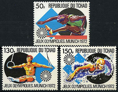 Chad 1972 SG#372-4 Olympic Games MNH Set #D35353