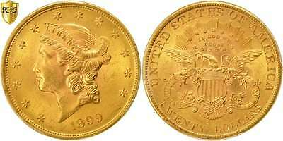 [#44639] États-Unis, 20 Dollars Liberty Head 1899-P, PCGS MS64, KM 74.3, KM...