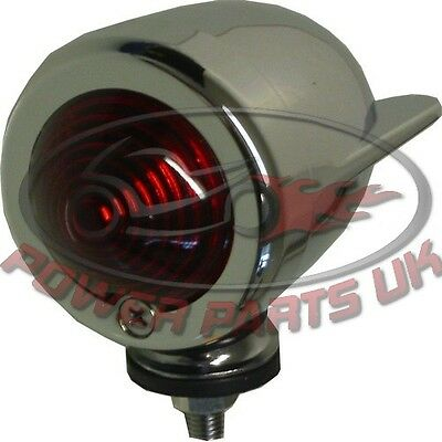 Bullet Light Chrome Winged With Red Lens