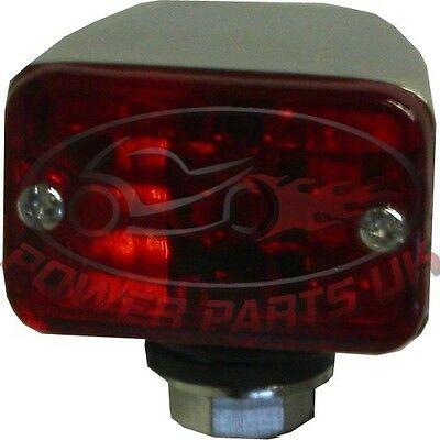 Marker Light Chrome Mini With Red Lens